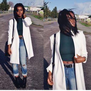 Zara Basic • White Trench Coat/Blazer • Size S